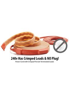 """10ft 240v 0.5"""" Silicone Heating Tape - 70 Degree Thermostat"""