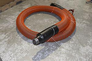 Heated hose with pyrojacket