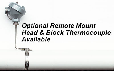 remote mount thermocouple